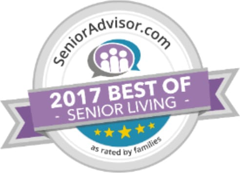 Award for 2017 Best of Senior Living