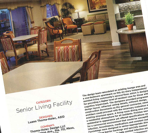 Avista Memory Care Interior Design Award